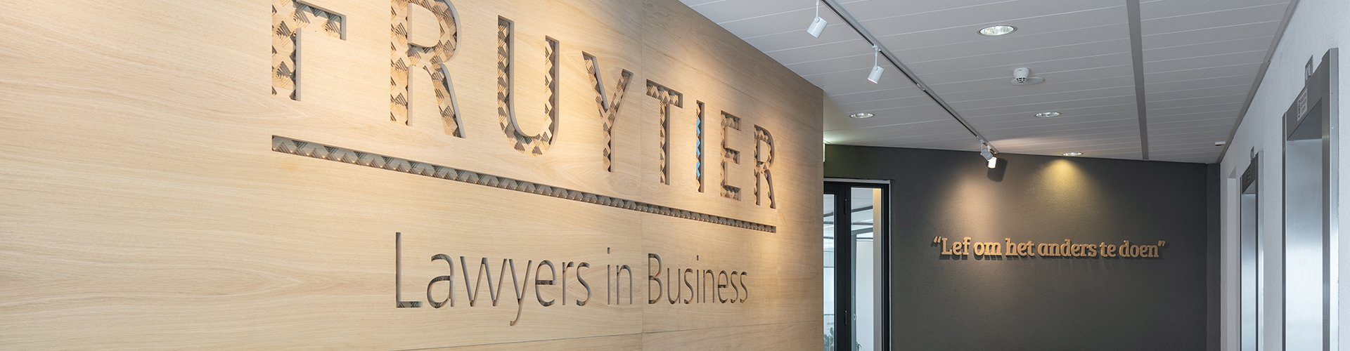 ontvangst in hal Fruytier Lawyers in Business
